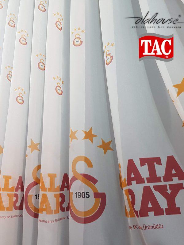 Taç Galatasaray Tül Perde Lisanslı Taraftar