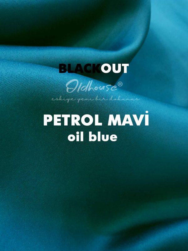 Oldhouse Petrol Mavi Blackout Karartma Güneşlik Fon Perde