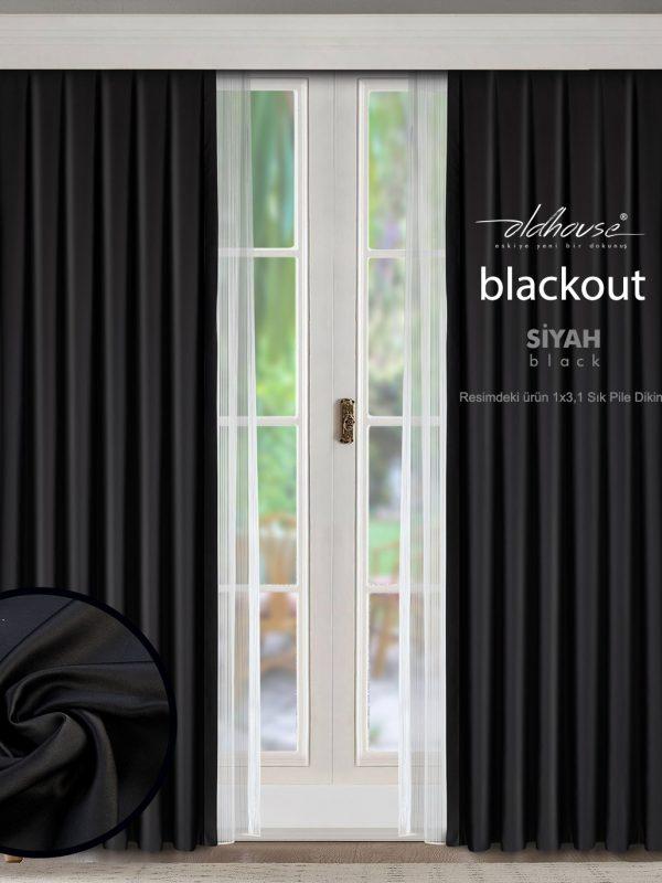 Oldhouse Siyah Blackout Karartma Güneşlik Fon Perde