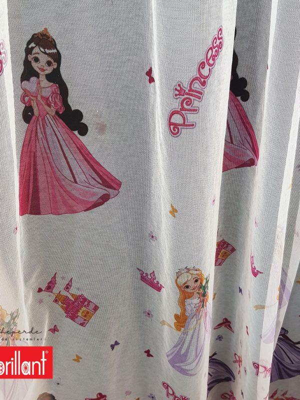 Brillant Este Princess Çocuk Odası Tül Perde Kırık Beyaz Prenses Kız Odası Tül