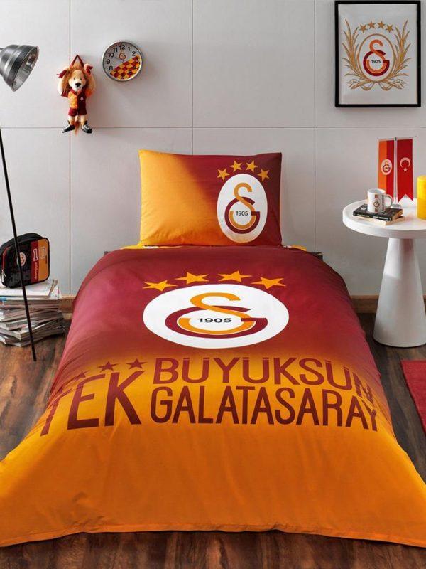 Taç Galatasaray 4 Yıldız Lisanslı Tek Kişilik Nevresim Takımı