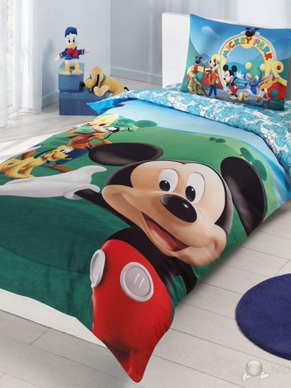 Taç Disney Mickey Mouse Club Lisanslı Tek Kişilik Nevresim Takımı