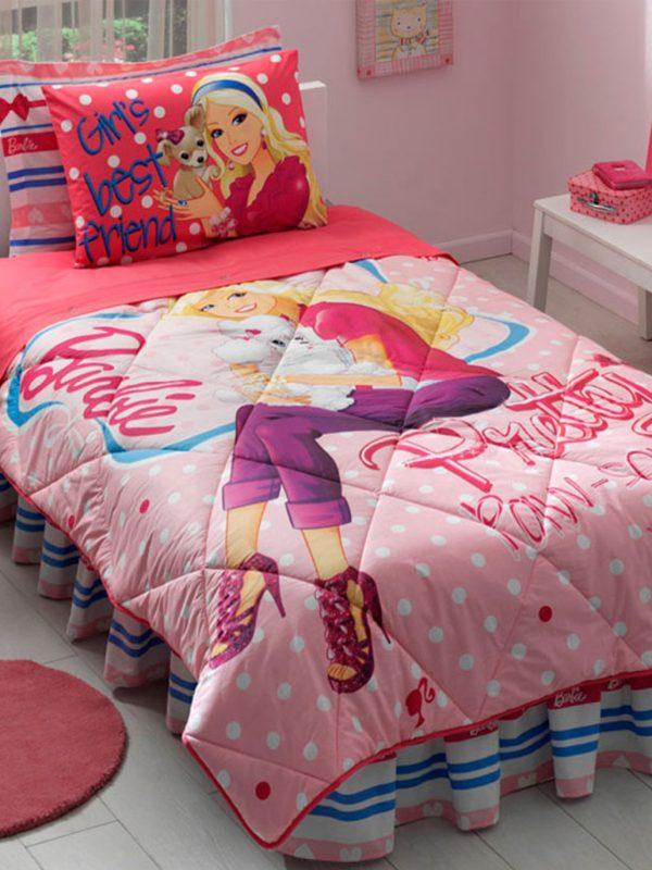 Taç Barbie Pretty Lisanslı Tek Kişilik Uyku Seti