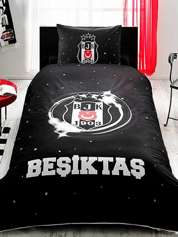 Taç Beşiktaş Şampiyonluk 3 Yıldız Lisanslı Tek Kişilik Nevresim Takımı