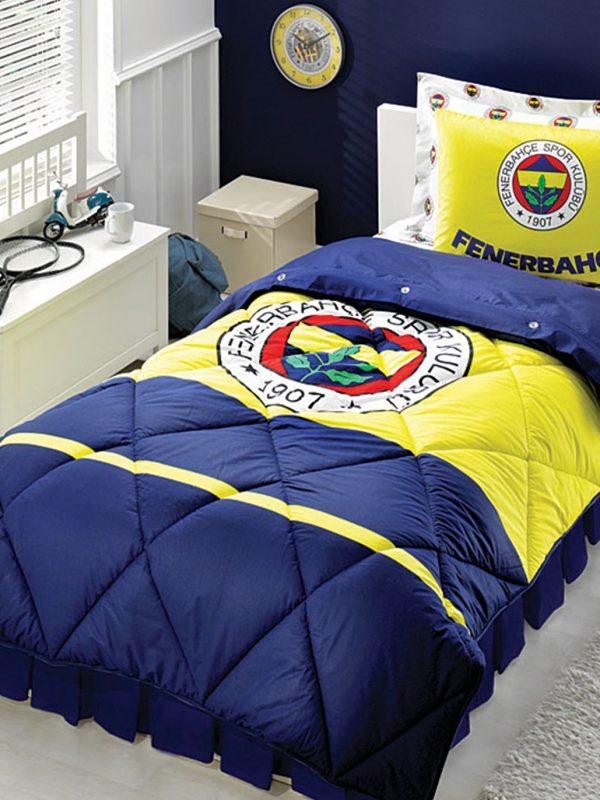 Taç Fenerbahçe Klasik Logo Lisanslı Tek Kişilik Uyku Seti
