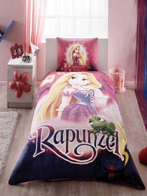 Taç Disney Rapunzel Lisanslı Tek Kişilik Nevresim Takımı