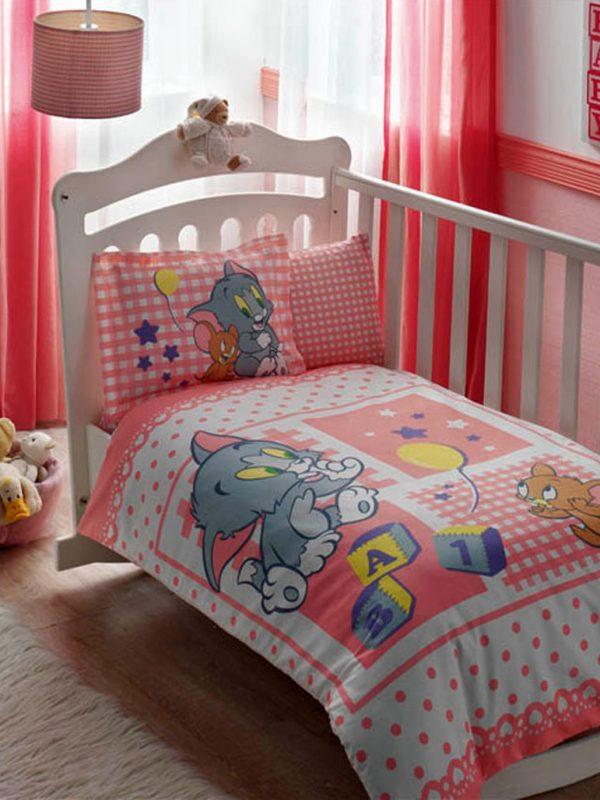 Taç Tom And Jerry Baby Bebek Nevresim Takımı