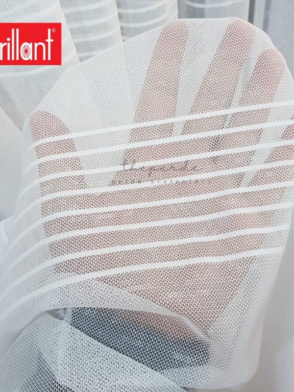 Brillant Almera Ekru Bantlı Spor Tül Perde Kırık Beyaz (Ekru)