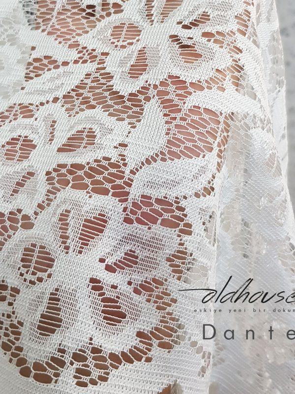Oldhouse Lace Örme Tül Perde Kırık Beyaz (Ekru)