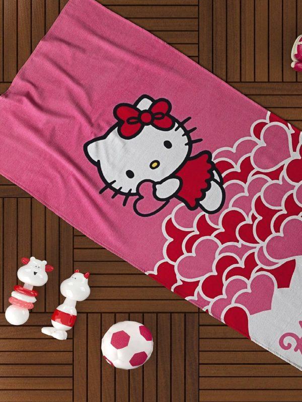 Taç Disney Hello Kitty Lisanslı 75x150 Plaj Havlusu